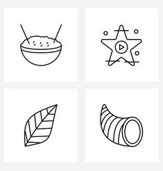 Universal symbols 4 modern line icons of vector