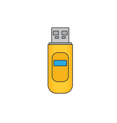 Usb flash drive flat icon vector