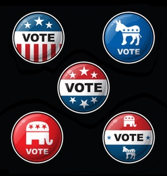Vote Parties vector image