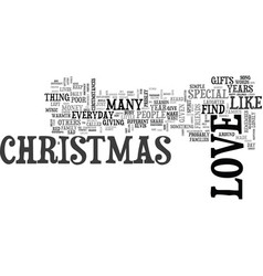 why can t everyday be like christmas text word vector image