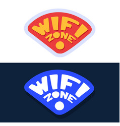 Wifi zone sticker for social media content hand vector