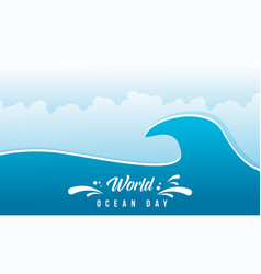 World ocean day flat design vector