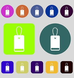 army chains icon sign 12 colored buttons Flat vector image
