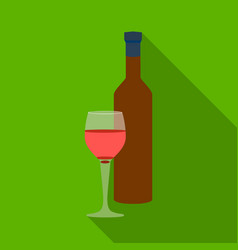 red wine icon in flat style isolated on white vector image