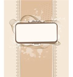 Vitnage background vector image