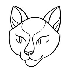 cartoon cat head vector image vector image