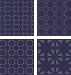 Dark grey seamless pattern background set vector