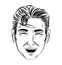 face man pop art style image vector image