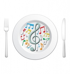 food is music vector image