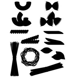 pasta 10 vector image vector image