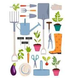 Set of gardening tools vector image vector image