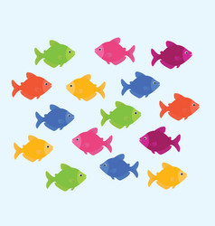 ternetzi color fish vector image