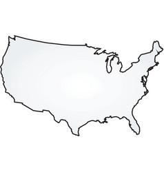 map usa vector image vector image