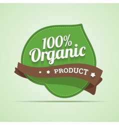 Organic product label vector image