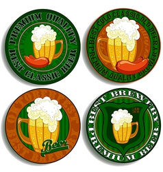 set of beer tags vector image