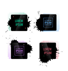 abstract frame with black splashes vector image vector image