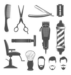 Barber Icon Set vector image