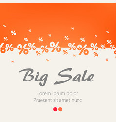 creative abstract orange percent background big vector image vector image