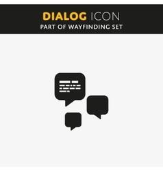 Dialog icon vector image vector image