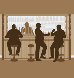 fat men bar vector image vector image