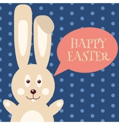 Greeting card with Easter rabbit Easter Bunny vector image