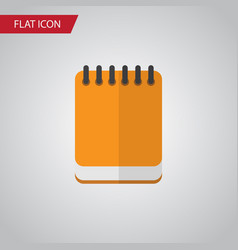 isolated notepad flat icon notepaper vector image