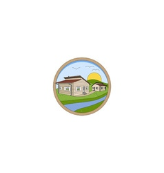 Prefabricated Houses Logo vector image