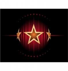 stars in red vector image vector image