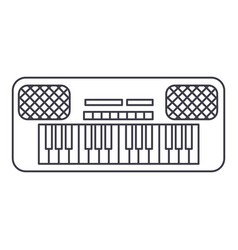 synthesizer line icon sign vector image vector image