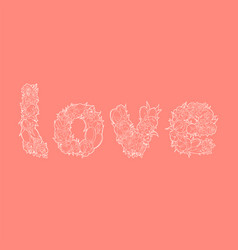 word love on red vector image