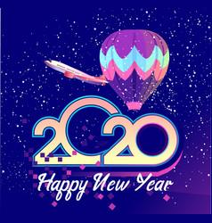 2020 calendar air travel vector image