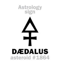 Astrology asteroid d vector