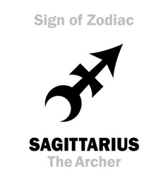 Astrology sign zodiac sagittarius the archer vector