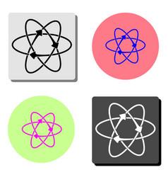 atom flat icon vector image