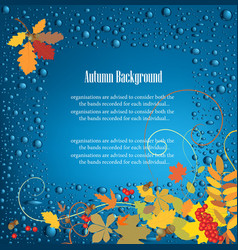 autumn frame background vector image