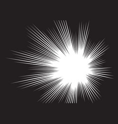 background radial lines for comic books vector image