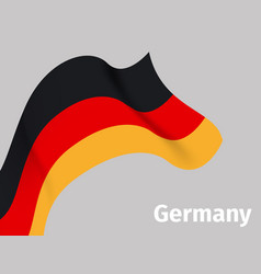 background with germany wavy flag vector image