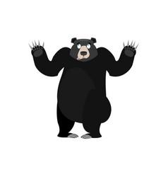 baribal surprised emoji american black bear vector image