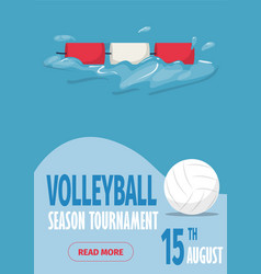beach volleyball sport poster vector image
