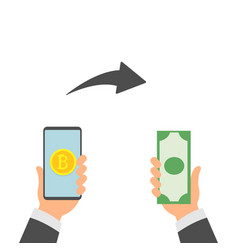 bitcoin exchange exchange of digital currency vector image