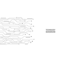black line circuit board on white background vector image