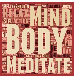 Body and Mind text background wordcloud concept vector