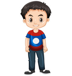 Boy from laos smiling vector