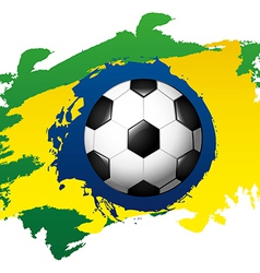 Brazil design over painted background vector