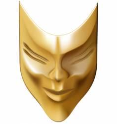 bronze mask vector image