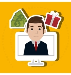 Businessperson avatar design vector