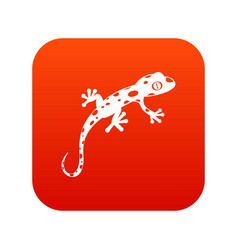 chameleon icon digital red vector image