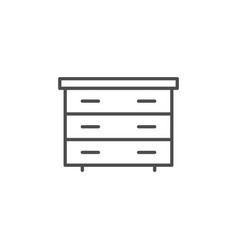 Chest of drawers line icon vector