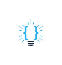 code idea logo icon design vector image
