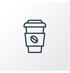 coffee cup icon line symbol premium quality vector image